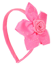 Babyhug Hair Band With Flower Motif - Pink