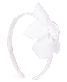 Babyhug Hair Band With Flower Motif - Peach