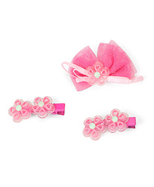 Babyhug Alligator Hair Clips Pack Of 3 - Pink