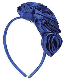 Babyhug Hair Band Rosette Applique - Blue