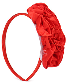 Babyhug Hair Band Rosette Applique - Red