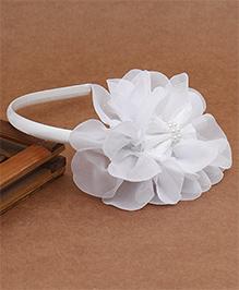 Babyhug Hair Band Floral Applique - White