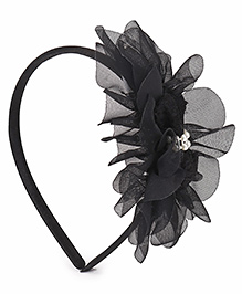 Babyhug Hair Band Floral Applique - Black