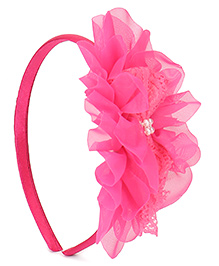 Babyhug Hair Band Floral Applique - Pink