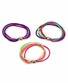 Babyhug Hair Rubber Band Set Of 3 - Multicolour