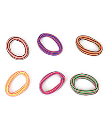 Babyhug Rubber Band Set Of 6 - Multicolor