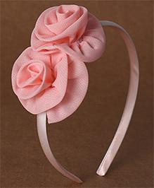 Babyhug Hair Band Rose Applique - Peach