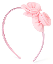 Babyhug Hair Band Rose Applique - Light Pink