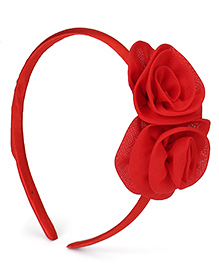 Babyhug Hair Band Rose Applique - Red