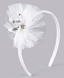 Babyhug Hair Band With Crown Motif - White