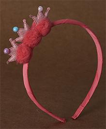 Babyhug Hair Band Crown Design - Red