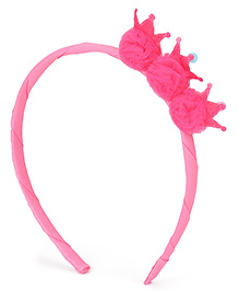Babyhug Hair Band Crown Design - Pink
