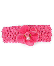 Babyhug Headband Flower Applique - Pink