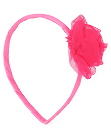Babyhug Hair Band With Rose Motif - Pink
