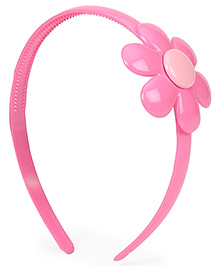 Babyhug Plastic Hair Band With Flower Motif - Pink