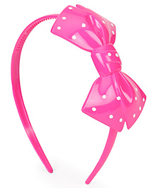 Babyhug Plastic Hair Band With Bow Motif - Pink