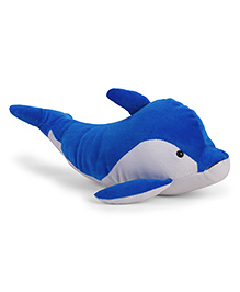 Dimpy Stuff Soft Toy Whale Blue White - 25 Cm