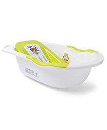 Baby Bath Tub Teddy Print - Green