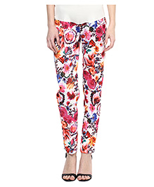 Mamacouture Maternity Straight Pants Floral Print - Multi Color
