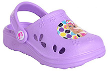 Barbie -   Purple Clog With Back Strap