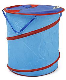 Animal Face Print Solid Color Storage Bag - Blue