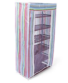 Stripes Design Five Layer Storage Rack - Multi Colour
