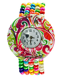 Angel Glitter Beaded Analog Watch - Blue & Multi Color