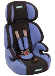 Fab N Funky High Back Car Seat Grey N Blue - Upto 14 Kg - 1 - 3 Years