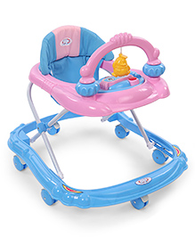 Baby Musical Walker With Play Tray - Blue & Pink