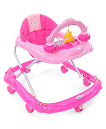 Baby Musical Walker With Play Tray - Dark & Light Pink