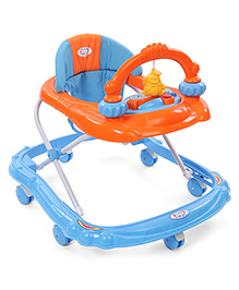 Baby Musical Walker With Play Tray - Blue & Orange