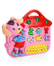 Toyhouse Puppy Electronic Music Organ Set - Pink & Red