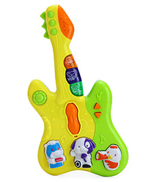 Toyhouse Small Guitar With Music And Light - Green & Yellow
