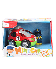 Toyhouse Mini Car With Music And Light - Red & Green
