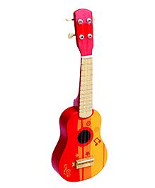 Hape Wooden Guitar - Red Orange Yellow