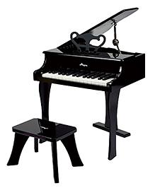 Hape Happy Grand Piano With 18 Keys - Black