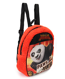 Kung Fu Panda Plush Bag Orange Black - Height 11.81 Inches