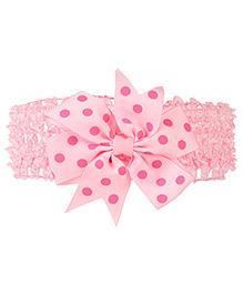 Baby Angel Polka Dot Head Band - Pink