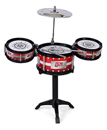 Playmate Flash Music Jazz Drum Set - Red