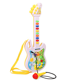 Smiles Creation Guitar With Microphone - Yellow White