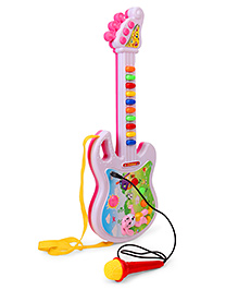 Smiles Creation Musical Guitar With Mic - Pink