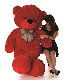 Skylofts Giant Teddy Bear Soft Toy Red - Height 180 Cm