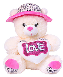 Skylofts Teddy Bear With Hat Soft Toy Pink - 40 Cm