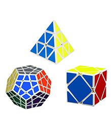 Emob Megamix Pyraminx Skewb Cube Multi Color - Pack Of 3