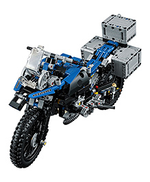 Emob 2 In 1 Motorcycle Biker R1200GS Adventure Motorrad Building Blocks Set Blue - 603 Pieces