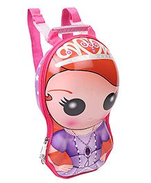 Disney School Bag With Detachable Straps Sofia Print Pink & Purple - 12 Inches