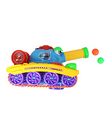 Planet Of Toys 360 Degree Wheel Rotation Action Army Tank - Multicolor