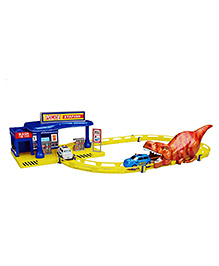 Planet Of Toys Police Car Track Set 30 Pieces - Multicolour