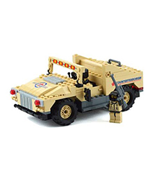 Planet Of Toys H2 Military Humvee Building Block Set Cream - 192 Pieces