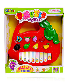 Planet Of Toys Musical Fruit Shape Piano - Red